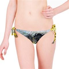 Bright Yellow Abstract Bikini Bottoms