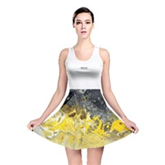 Bright Yellow Abstract Reversible Skater Dresses