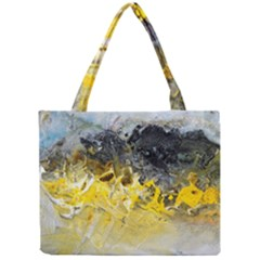 Bright Yellow Abstract Tiny Tote Bags