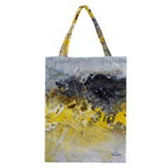 Bright Yellow Abstract Classic Tote Bags