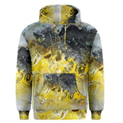 Bright Yellow Abstract Men s Pullover Hoodies
