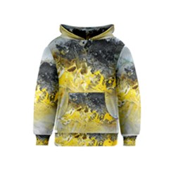 Bright Yellow Abstract Kid s Pullover Hoodies