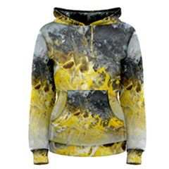 Bright Yellow Abstract Women s Pullover Hoodies