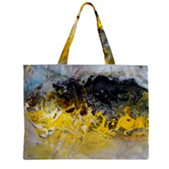 Bright Yellow Abstract Zipper Tiny Tote Bags