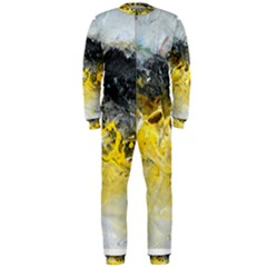 Bright Yellow Abstract OnePiece Jumpsuit (Men)