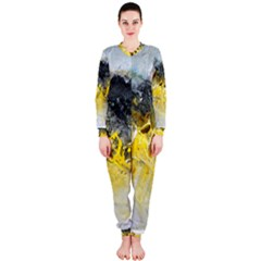 Bright Yellow Abstract Onepiece Jumpsuit (ladies)