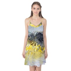 Bright Yellow Abstract Camis Nightgown