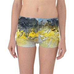 Bright Yellow Abstract Reversible Boyleg Bikini Bottoms