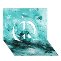 Turquoise Abstract Peace Sign 3d Greeting Card (7x5)
