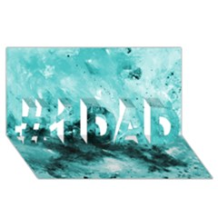 Turquoise Abstract #1 Dad 3d Greeting Card (8x4)