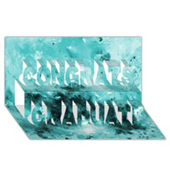 Turquoise Abstract Congrats Graduate 3D Greeting Card (8x4)