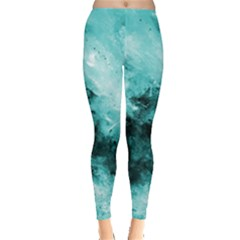 Turquoise Abstract Women s Leggings
