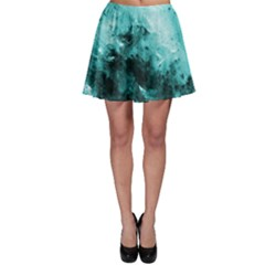 Turquoise Abstract Skater Skirts