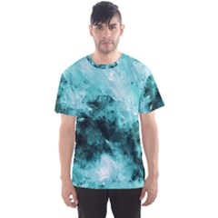 Turquoise Abstract Men s Sport Mesh Tees
