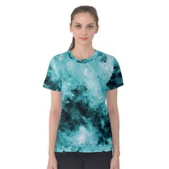 Turquoise Abstract Women s Cotton Tees