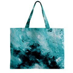 Turquoise Abstract Tiny Tote Bags