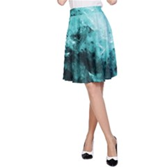Turquoise Abstract A Line Skirts