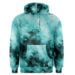 Turquoise Abstract Men s Pullover Hoodies