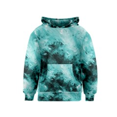 Turquoise Abstract Kid s Pullover Hoodies