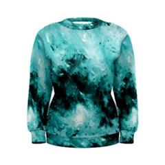 Turquoise Abstract Women s Sweatshirts