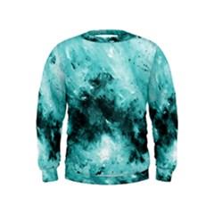 Turquoise Abstract Boys  Sweatshirts