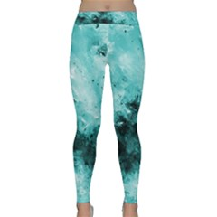 Turquoise Abstract Yoga Leggings