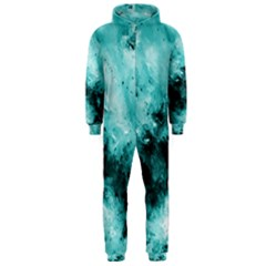 Turquoise Abstract Hooded Jumpsuit (men)