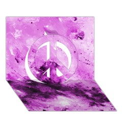 Bright Pink Abstract Peace Sign 3D Greeting Card (7x5)