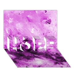 Bright Pink Abstract Hope 3d Greeting Card (7x5)