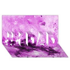 Bright Pink Abstract #1 DAD 3D Greeting Card (8x4)