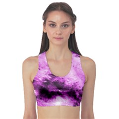 Bright Pink Abstract Sports Bra