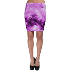 Bright Pink Abstract Bodycon Skirts