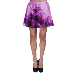 Bright Pink Abstract Skater Skirts