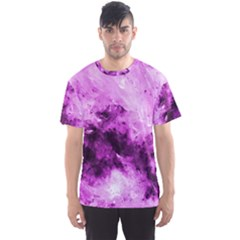 Bright Pink Abstract Men s Sport Mesh Tees