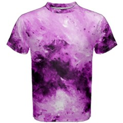 Bright Pink Abstract Men s Cotton Tees