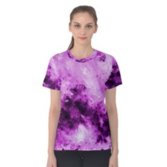 Bright Pink Abstract Women s Cotton Tees