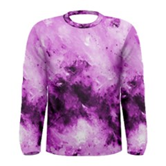 Bright Pink Abstract Men s Long Sleeve T Shirts