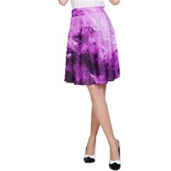Bright Pink Abstract A-Line Skirts