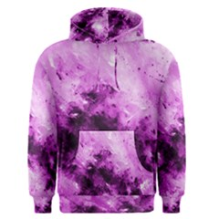 Bright Pink Abstract Men s Pullover Hoodies