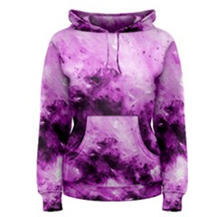 Bright Pink Abstract Women s Pullover Hoodies