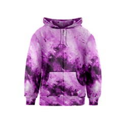 Bright Pink Abstract Kids Zipper Hoodies