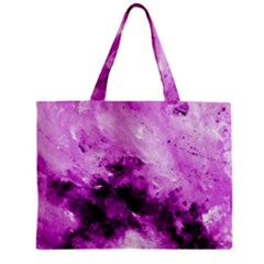 Bright Pink Abstract Zipper Tiny Tote Bags