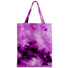 Bright Pink Abstract Zipper Classic Tote Bags