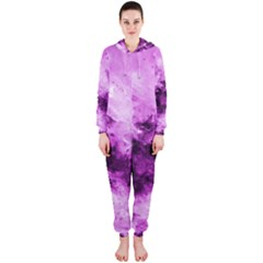 Bright Pink Abstract Hooded Jumpsuit (Ladies)