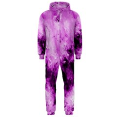 Bright Pink Abstract Hooded Jumpsuit (Men)