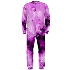 Bright Pink Abstract OnePiece Jumpsuit (Men)