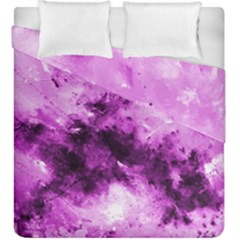 Bright Pink Abstract Duvet Cover (king Size)