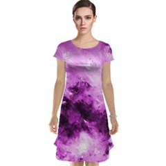 Bright Pink Abstract Cap Sleeve Nightdresses