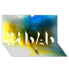 Watercolor Abstract #1 Dad 3d Greeting Card (8x4)