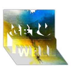 Watercolor Abstract Get Well 3d Greeting Card (7x5)